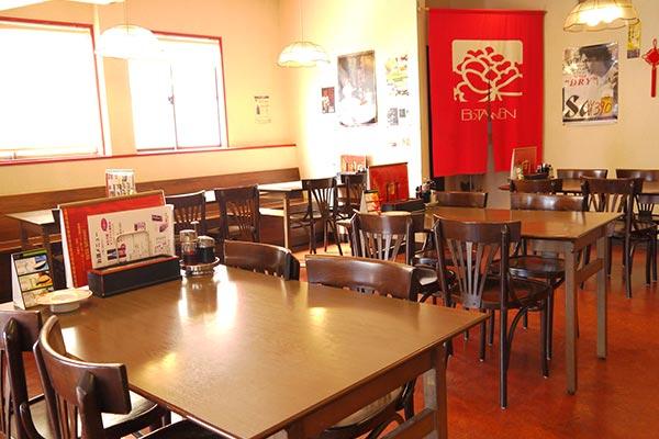 佐世保市 中華料理 牡丹園 1階テーブル席