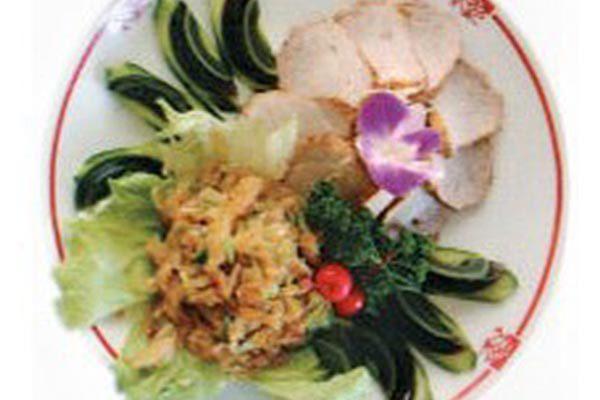 前菜(くらげ、ピータン、焼豚)